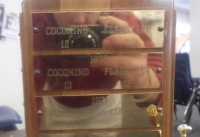 Thats me in the city championship trophys reflection