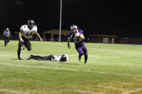 A Havasu defender running back an interception for a TD