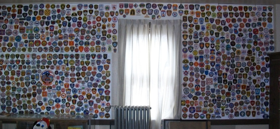 Patch collection presentations from badge frame.