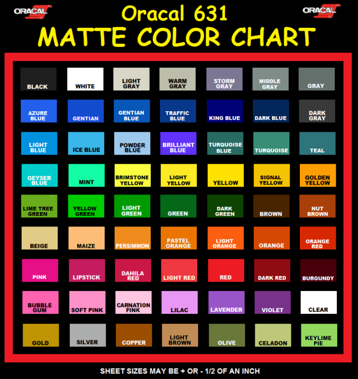 Oracal 631 Color Chart Pdf Comedydevelopers
