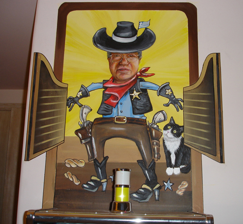 Cowboy-Tom-busting-into-saloon-with-cat