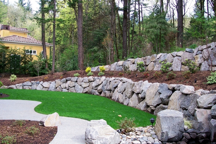 Images Of Landscape Rock Retaining Wall